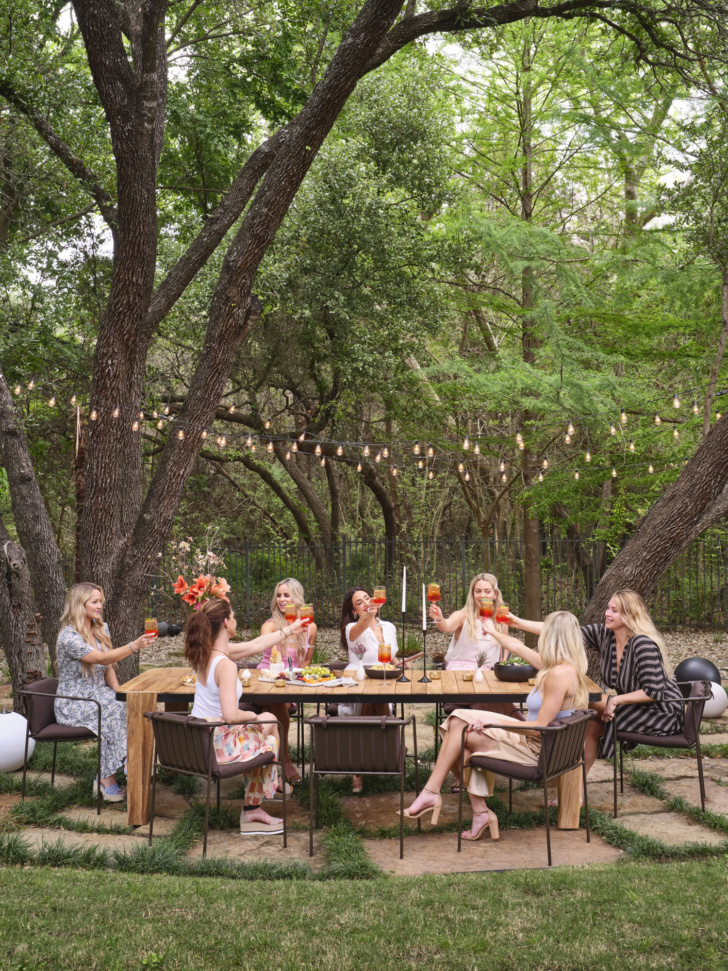dining table outdoor hosting dinner party